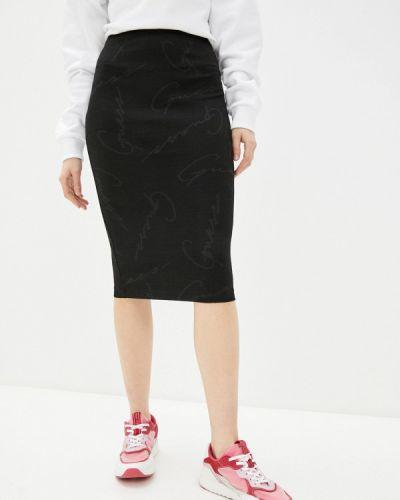Черная джинсовая юбка узкого кроя Guess Jeans