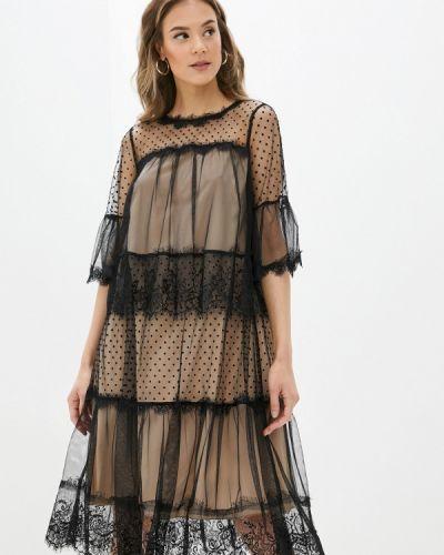 Черное вечернее платье Vera Moni