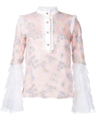 Блузка розовая с рюшами Macgraw