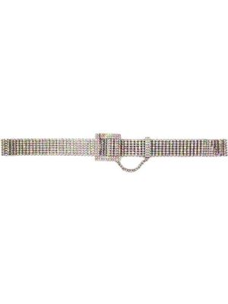 Серебряный ремень с заклепками металлический с пряжкой Kate Cate