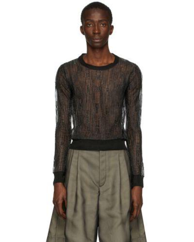 Пуловер в полоску с воротником Maison Margiela