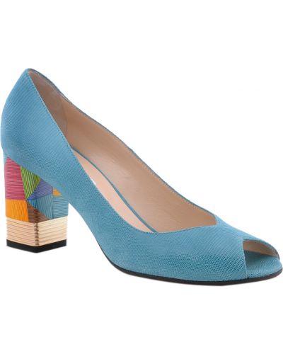 Кожаные туфли - бирюзовые Donna Laura