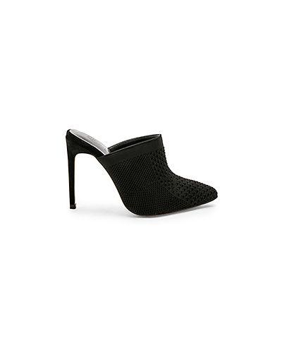 Черные мюли на каблуке Raye