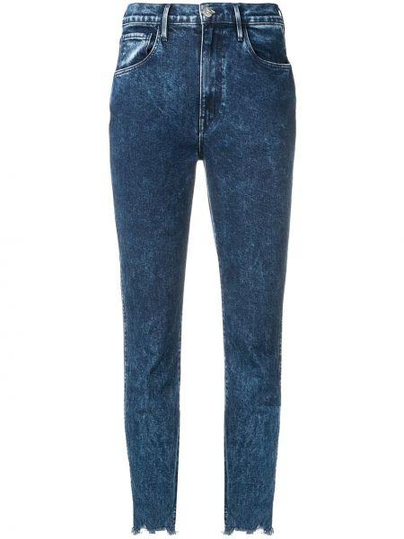 Укороченные джинсы с пайетками на пуговицах с поясом в стиле бохо 3x1