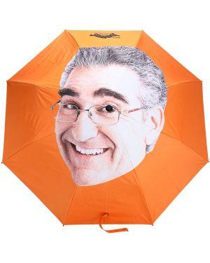 Pomarańczowy parasol z printem 1800-paradise