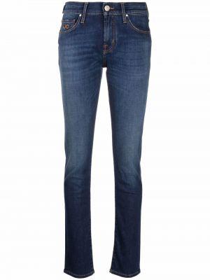 Синие джинсовые зауженные джинсы Jacob Cohen