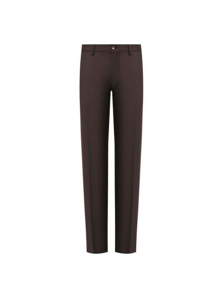 Прямые шерстяные со стрелками черные брюки Zilli