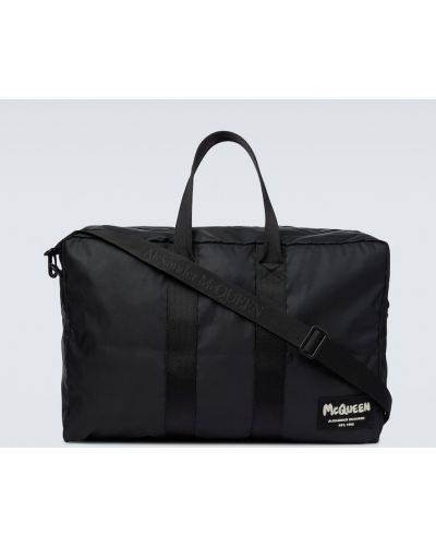 Klasyczna czarna torba sportowa Alexander Mcqueen