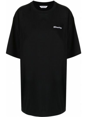 Хлопковая белая рубашка с короткими рукавами Balenciaga