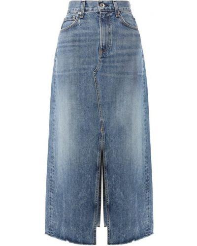 Джинсовая юбка - синяя Rag&bone
