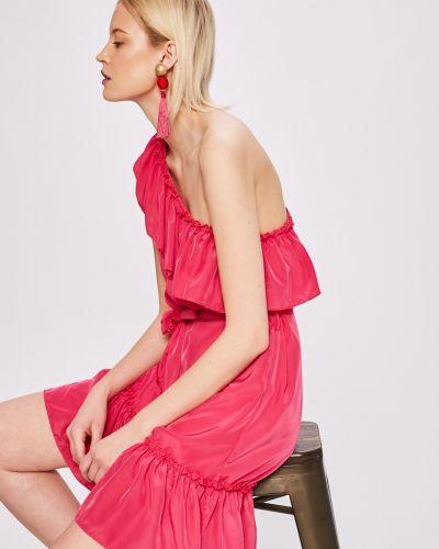 Расклешенное розовое платье мини Sh