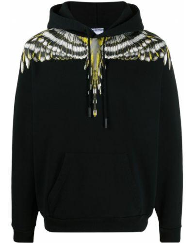 Czarna bluza długa z kapturem z długimi rękawami Marcelo Burlon County Of Milan