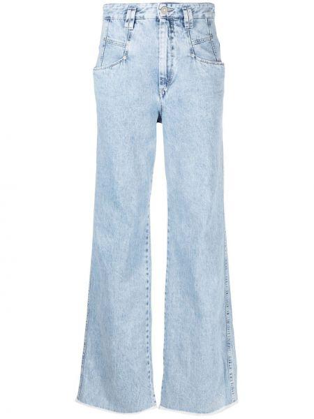 Klasyczne niebieskie jeansy z wysokim stanem Isabel Marant