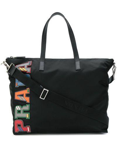 Кожаная сумка на плечо на молнии Prada