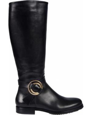 Кожаные сапоги - черные Fabi