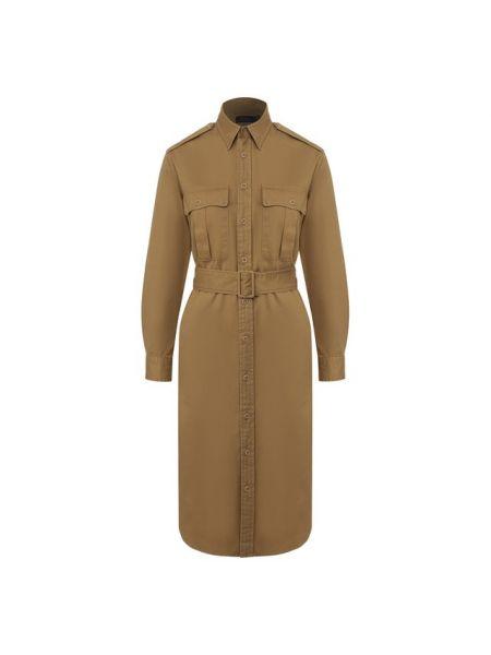 Платье с поясом платье-рубашка милитари Polo Ralph Lauren