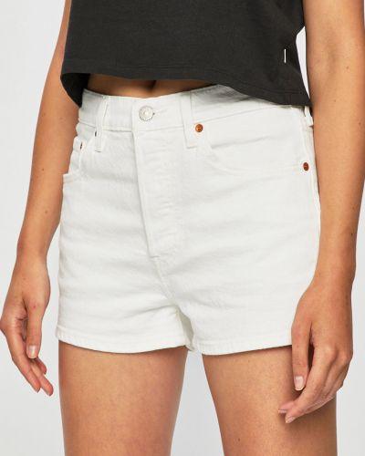 Джинсовые шорты с завышенной талией белые Levi's®