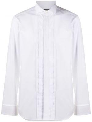 Biały klasyczny bawełna koszula klasyczna z mankietami Gucci