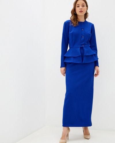 Синий костюмный юбочный костюм Sahera Rahmani