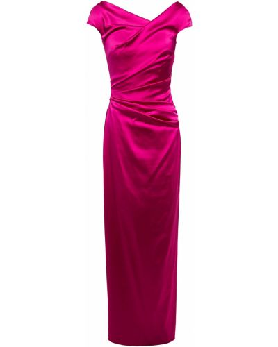 Розовое вечернее платье с подкладкой с оборками Talbot Runhof