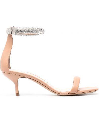 Beżowe sandały skorzane peep toe Nicholas Kirkwood