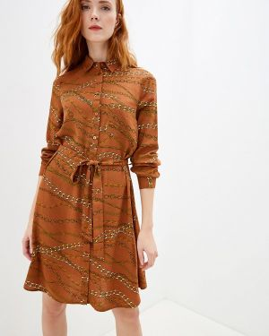 Платье - коричневое Nice & Chic
