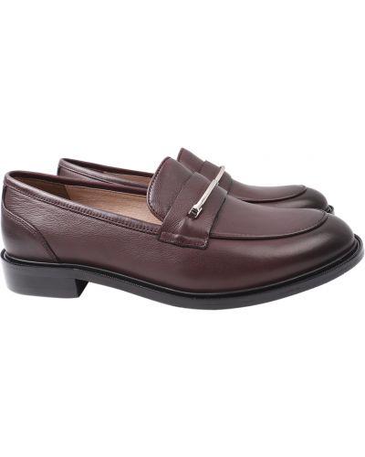 Кожаные туфли - бордовые Anemone