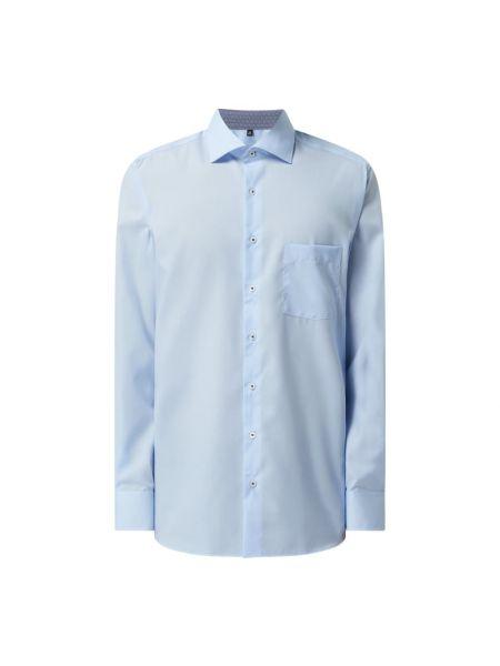 Niebieska koszula bawełniana z długimi rękawami Eterna