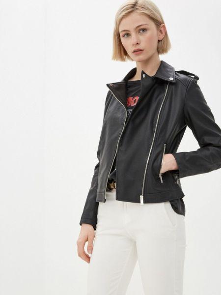 Кожаная куртка черная весенняя Nice & Chic