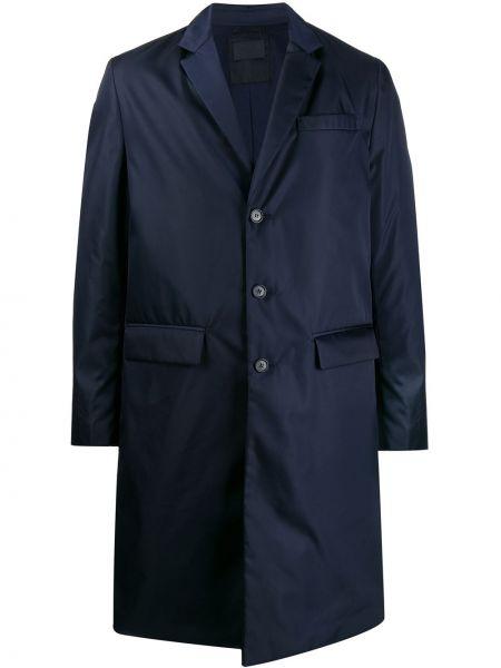 Длинное пальто с лацканами классическое Prada