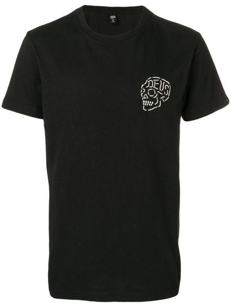 Черная футболка с черепами Deus Ex Machina