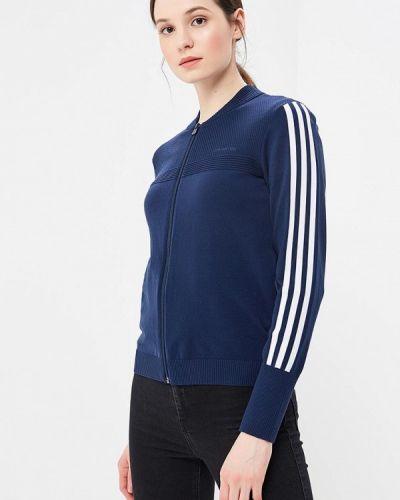 Синяя ветровка Adidas