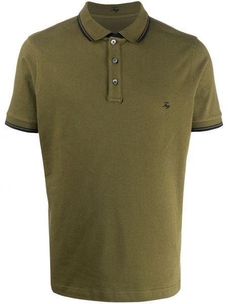 Koszula krótkie z krótkim rękawem klasyczna zielona Fay