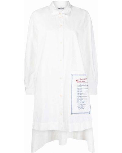 Белое платье рубашка Henrik Vibskov