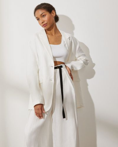 Льняной пиджак с подкладкой на пуговицах 12storeez
