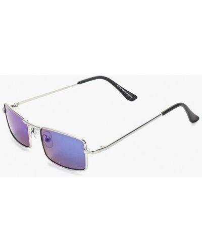 Солнцезащитные очки квадратные серебряный Topman