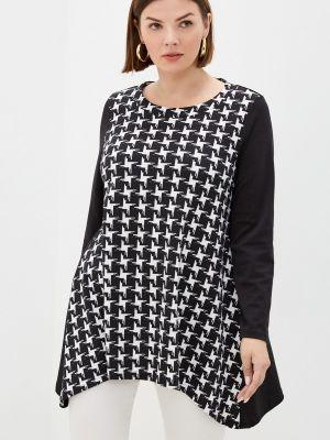 Черная зимняя блузка Malena
