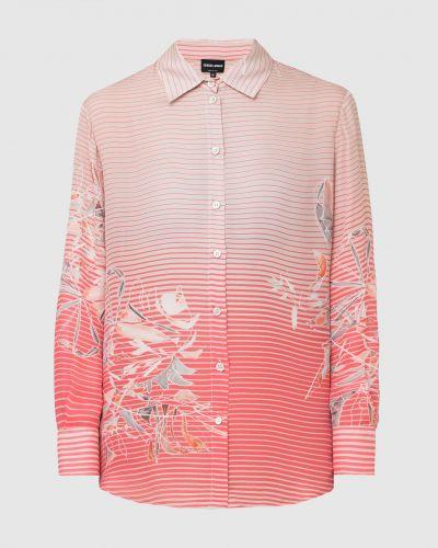 Шелковая розовая блузка Armani