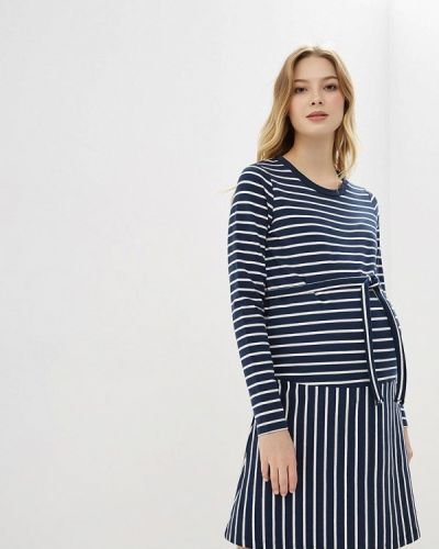 Платье для беременных осеннее синее Mama.licious