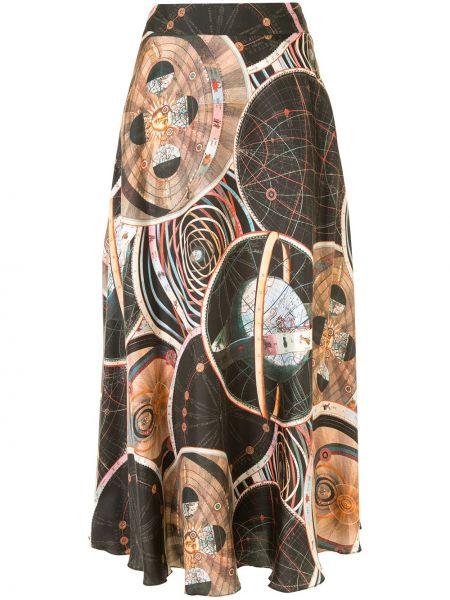 С завышенной талией расклешенная черная юбка Ginger & Smart