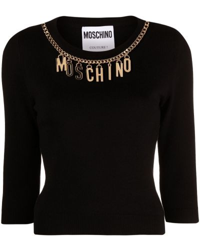 Złoty czarny top Moschino