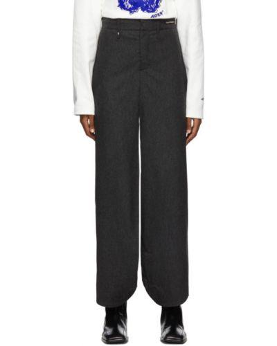 Spodnie wełniane z paskiem Ader Error