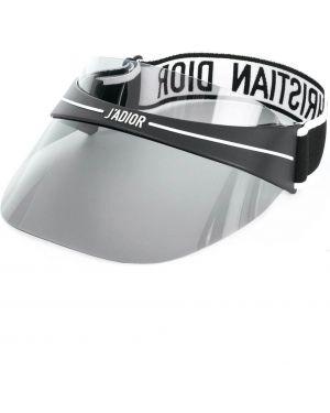 Daszek czarny z logo Dior Eyewear