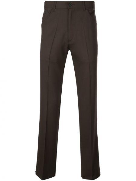 Деловые прямые брюки с поясом на пуговицах новогодние Second/layer