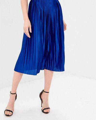 Плиссированная юбка синяя Ichi