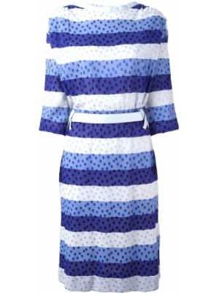 Платье с поясом в полоску винтажная Courrèges Pre-owned