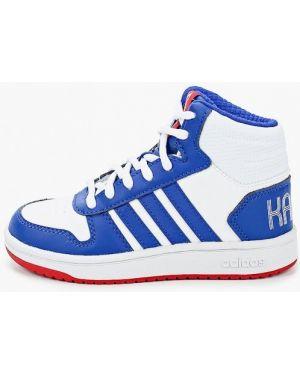 Белые кожаные кроссовки Adidas