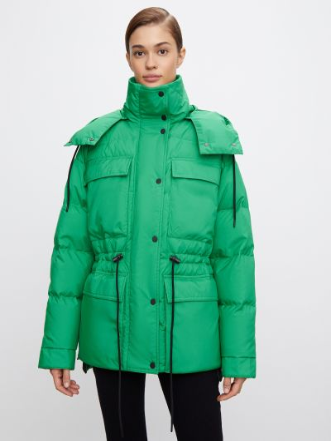 Теплый пуховик - зеленый 12storeez