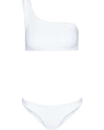 Biały bikini z nylonu Hunza G