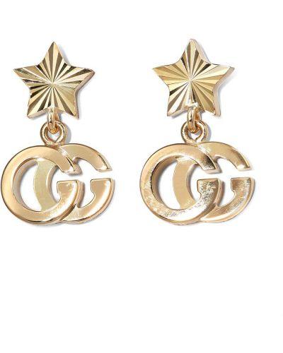 Золотистые серьги-гвоздики золотые для бега Gucci